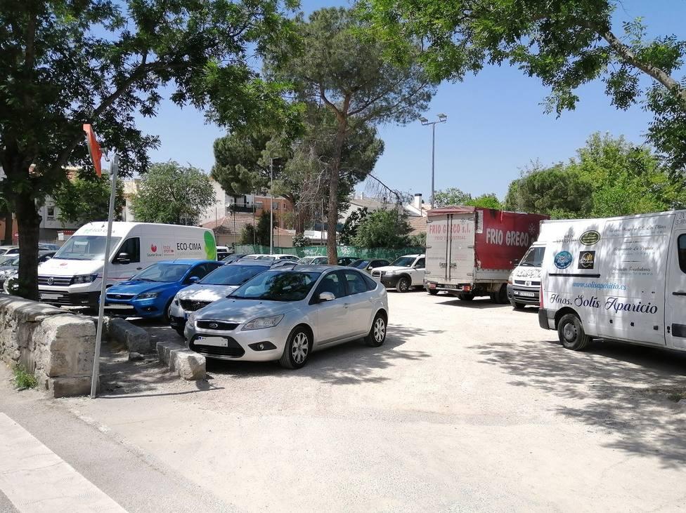 Aparcamiento de la calle de Las Eras en Torrelodones
