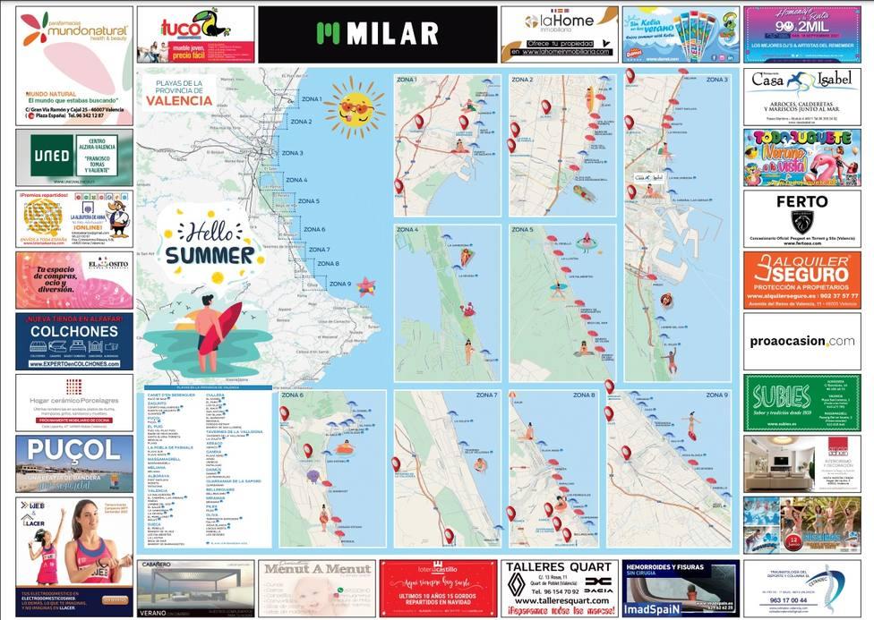 Imagen Mapa de playas en Valencia