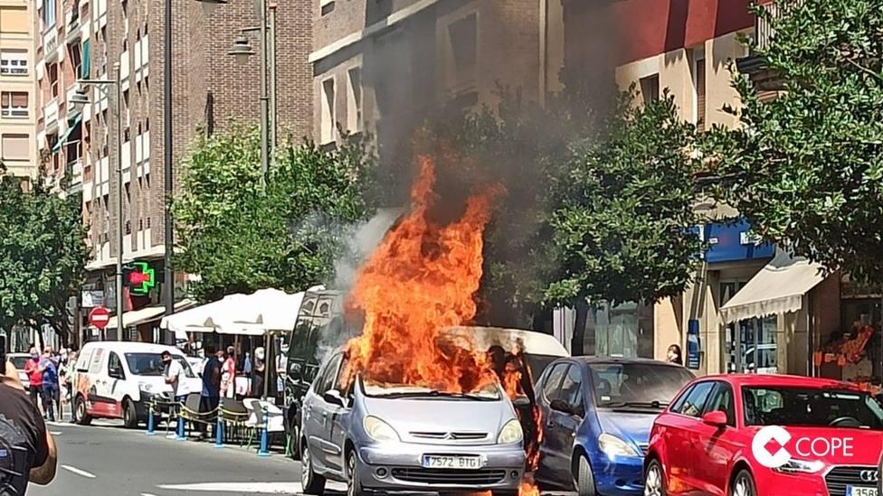 Susto en la calle Huesca de Logroño