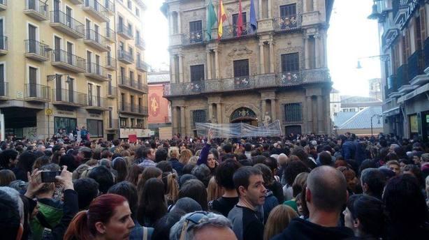 Protestas ante la sentencia de La Manada en Pamplona