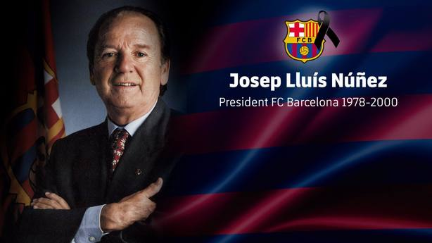 El Barça decreta cuatro días de duelo y abrirá un Memorial por Núñez en el Camp Nou