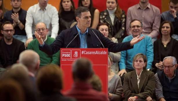Sánchez acudió a Santander a un acto del Psoe