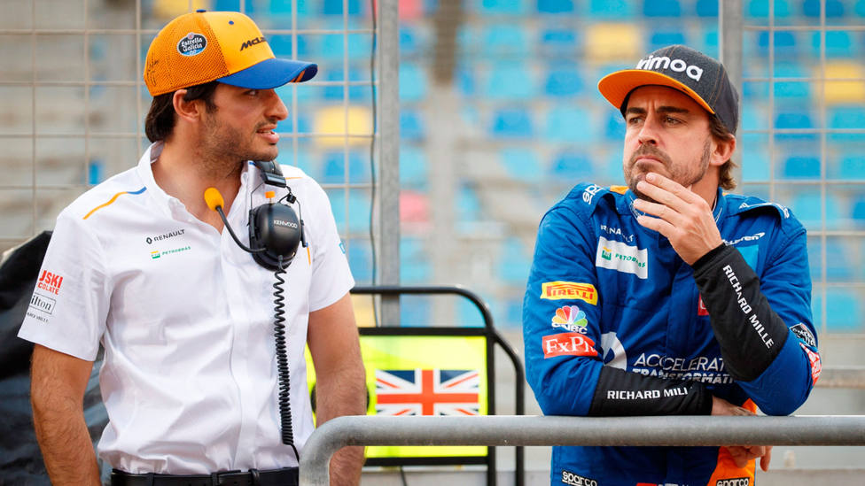 Resultado de imagen de Fernando Alonso, Carlos Sainz Test Bahréin