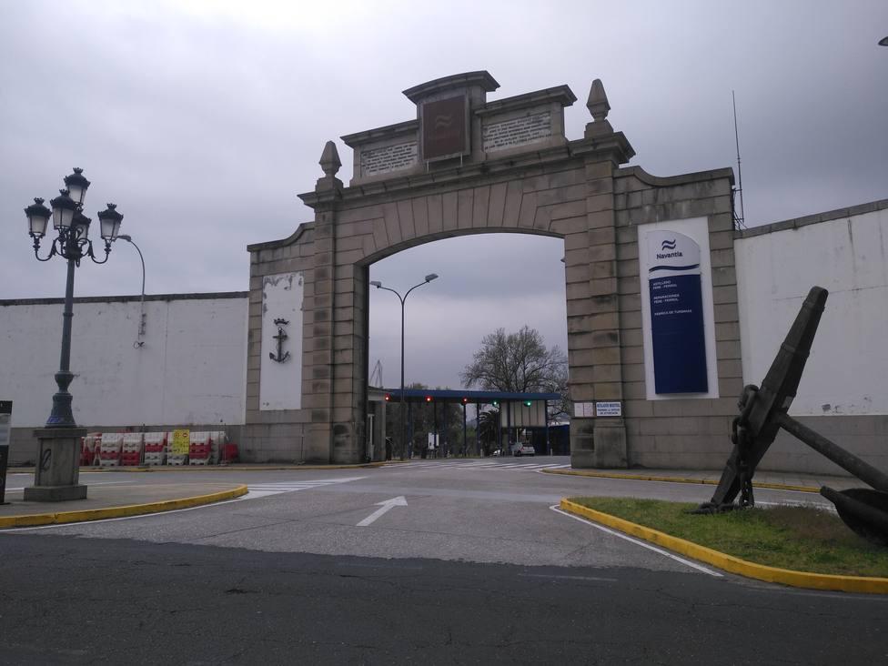 Entrada principal del astillero de Navantia en Ferrol