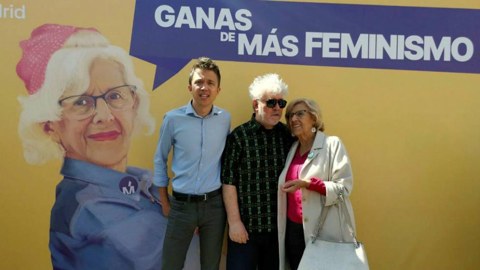 Carmena, Errejón y Pedro Almodóvar