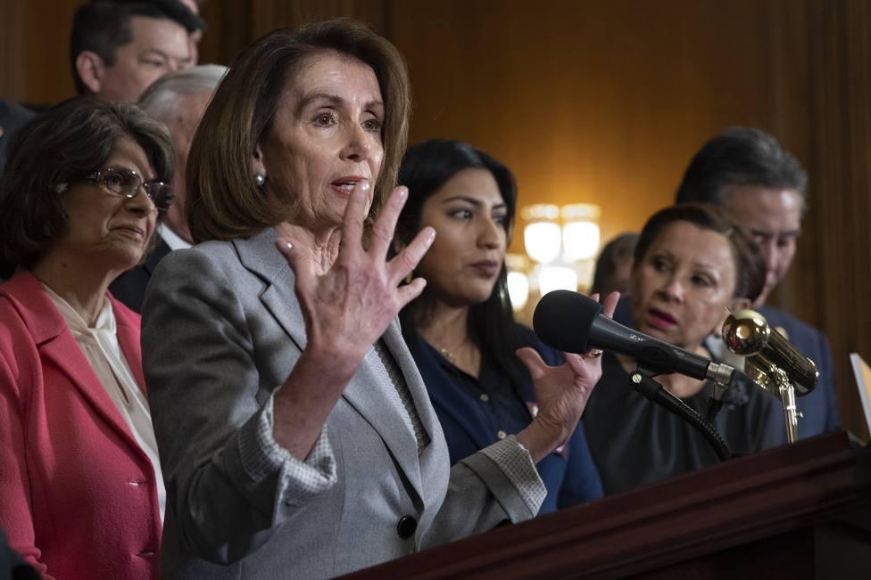 Trump distribuye un vídeo manipulado que ridiculiza a la presidenta de la Cámara de Representantes