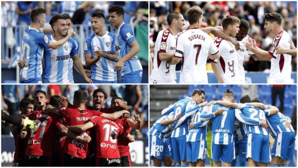 (Previa) Deportivo-Málaga y Mallorca-Albacete, rivales históricos por una plaza de vuelta a la élite