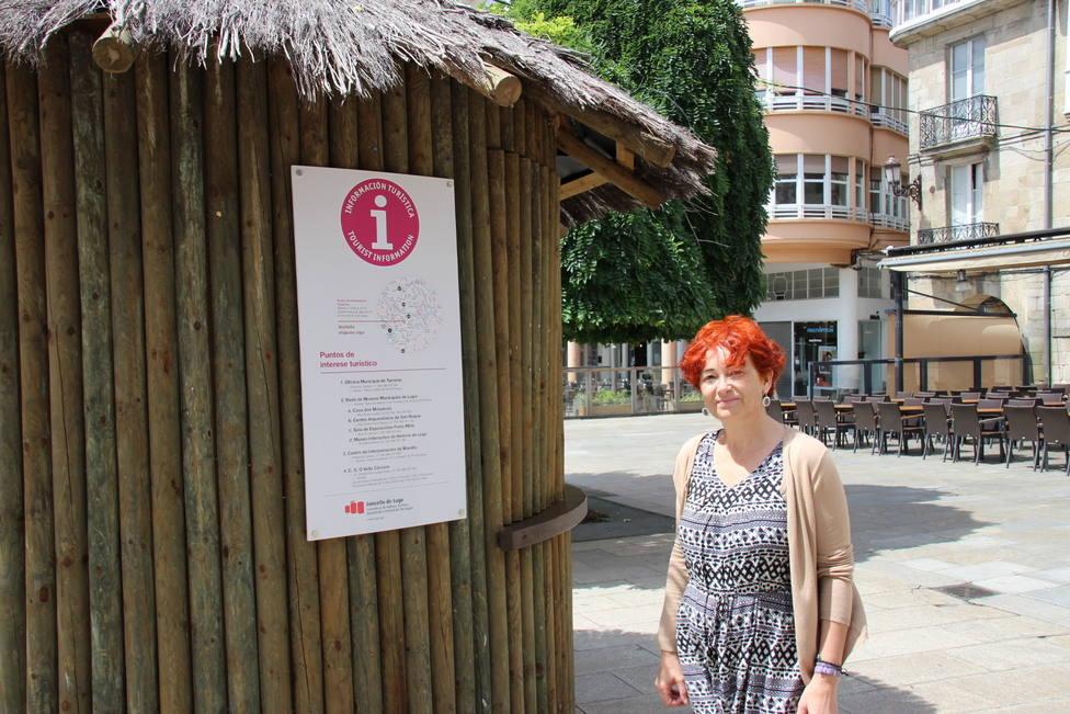 La caseta de información turística de la Praza Maior aumenta en un 64% el número de personas atendidas