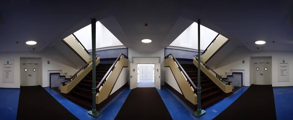 Zona de pasillos interiores de la Audiencia Provincial de A Coruña - FOTO: Efe / Cabalar