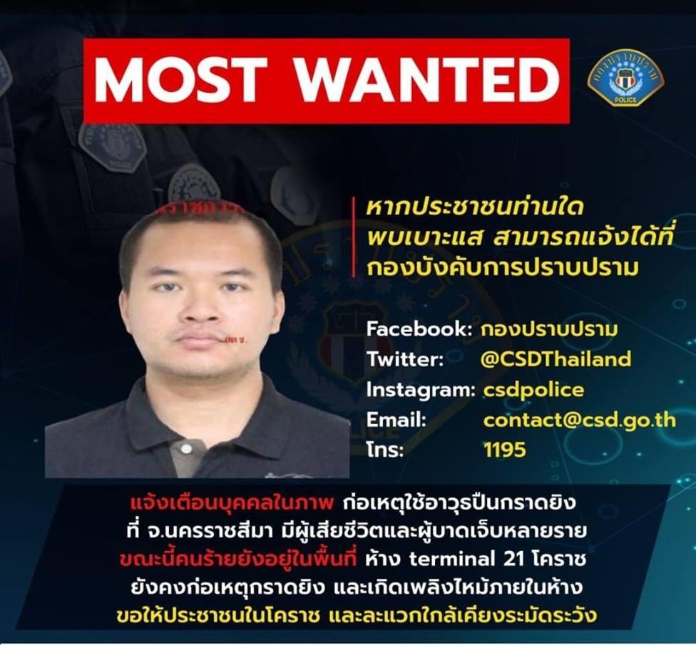 Tailandia.-El militar atrincherado en un centro comercial de Tailandia mata a un soldado de las fuerzas especiales