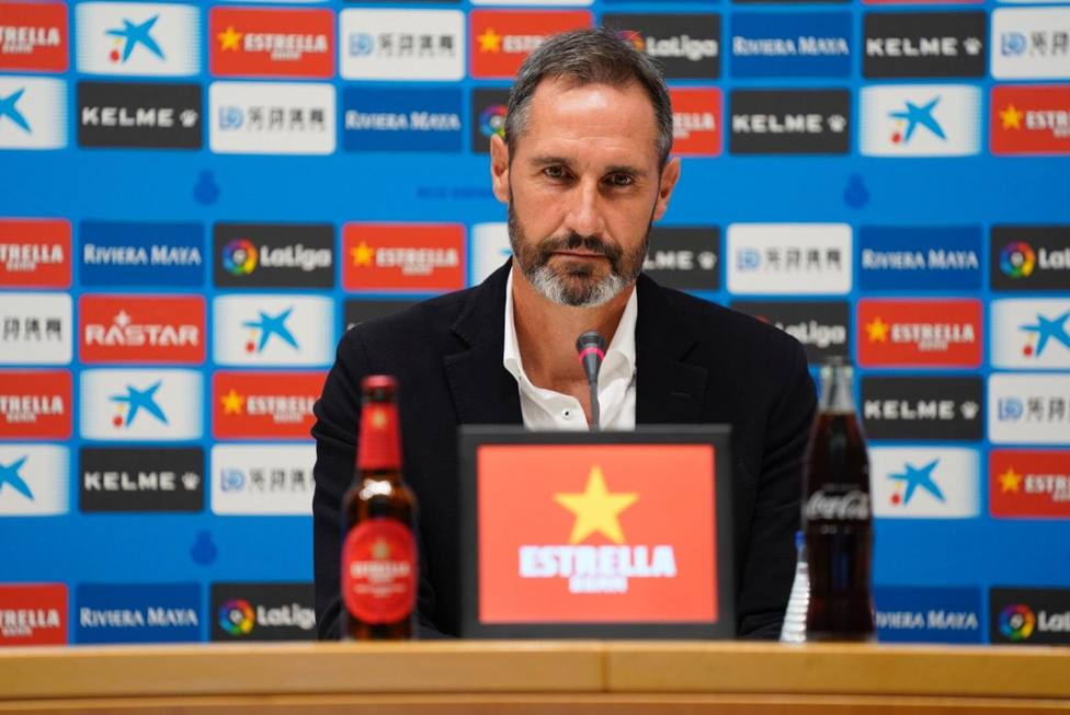 Vicente Moreno, en su presentación con el Espanyol.