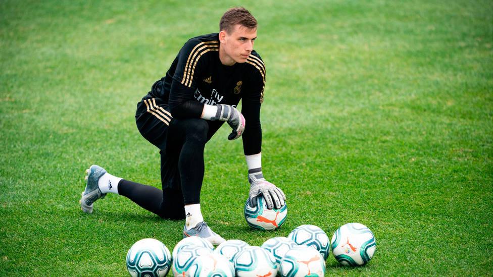 Andriy Lunin, portero del Real Madrid. CORDONPRESS