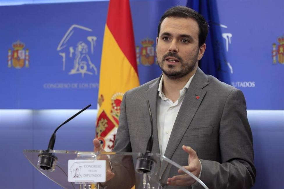 El líder de IU y ministro de Consumo, Alberto Garzón