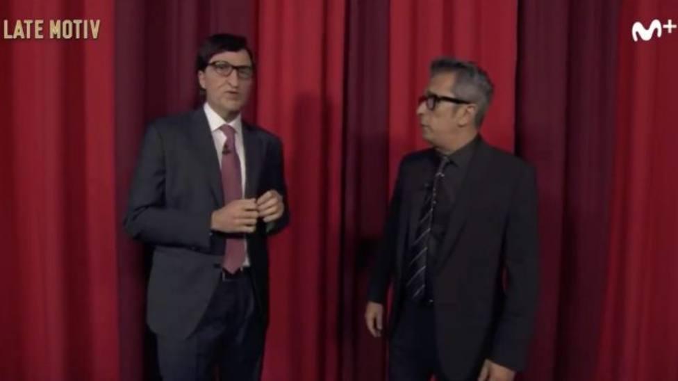 Salvador Illa toma el mando único en el programa de Buenafuente y le lanza un recado: Pareces un camarero