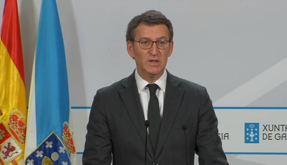 Comparecencia del Núñez Feijóo para dar cuenta de las nuevas medidas - FOTO: Xunta