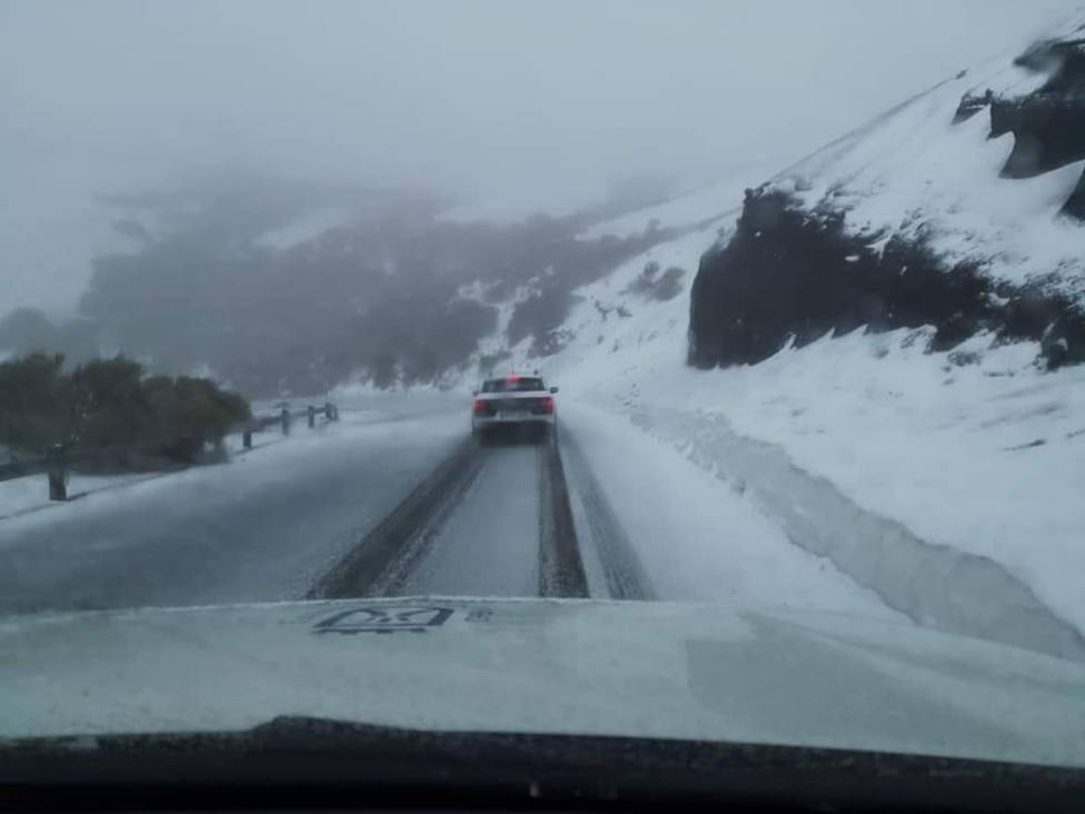 Nieve en el Teide, febrero 2021