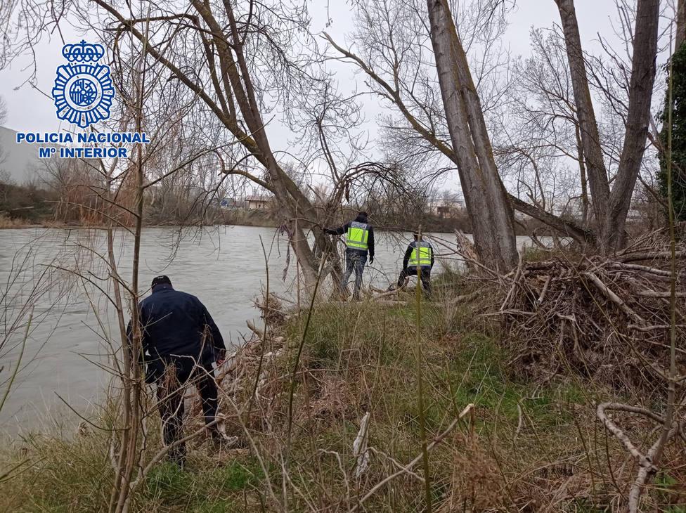 La Policía Nacional localiza en el Ebro el cadáver del anciano desaparecido en Logroño el domingo