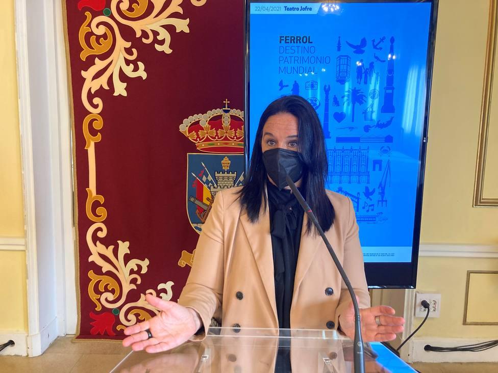 La concejal de Patrimonio Histórico, Eva Martínez Montero. FOTO: Concello Ferrol