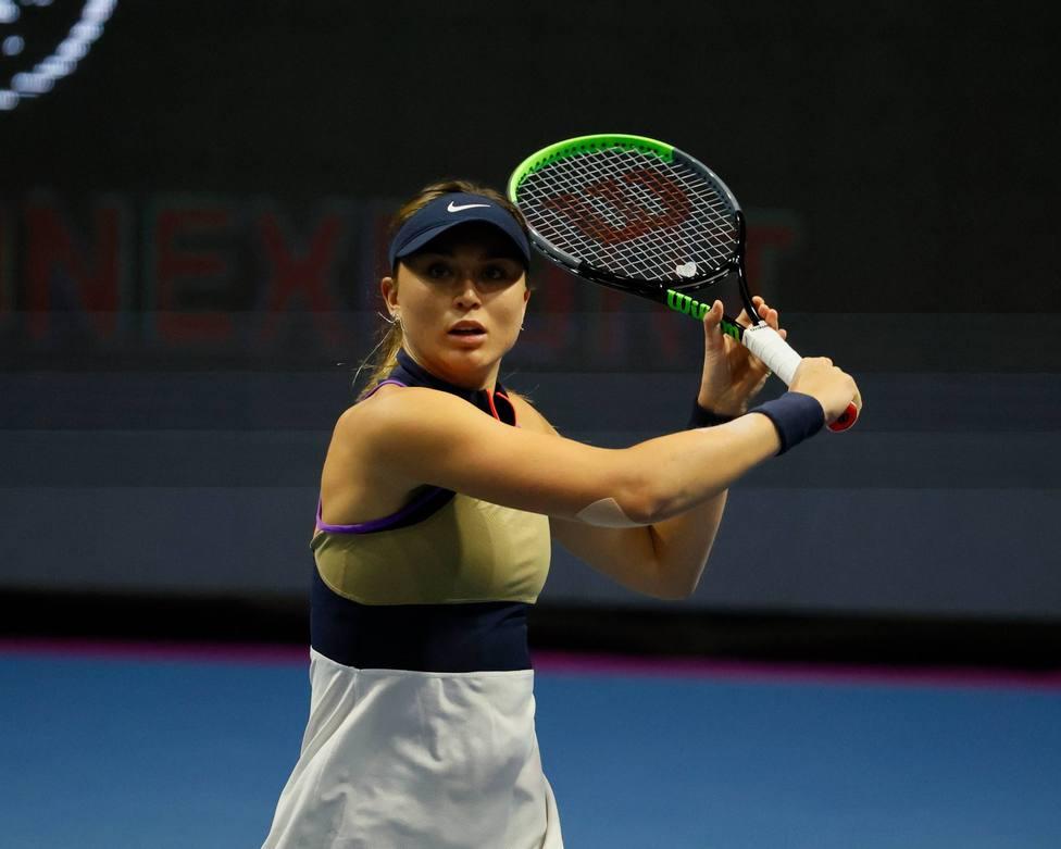 WTA 500, Jelena Ostapenko Vs Paula Badosa in St. Petersburg, Russia - 15 Mar 2021