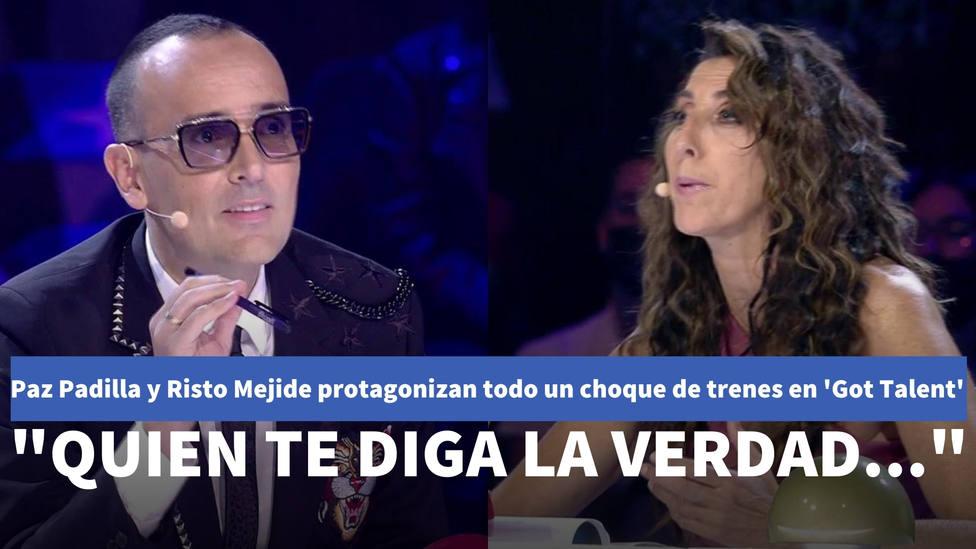 Paz Padilla y Risto Mejide protagonizan todo un choque de trenes en Got Talent: Quien te diga la verdad...