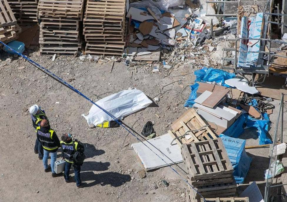 Accidente ocurrido en una obra en Zaragoza el pasado mes de marzo