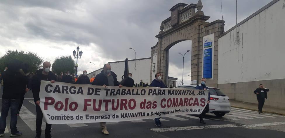 Manifestación de este jueves demandando carga de trabajo para Navantia Ferrol