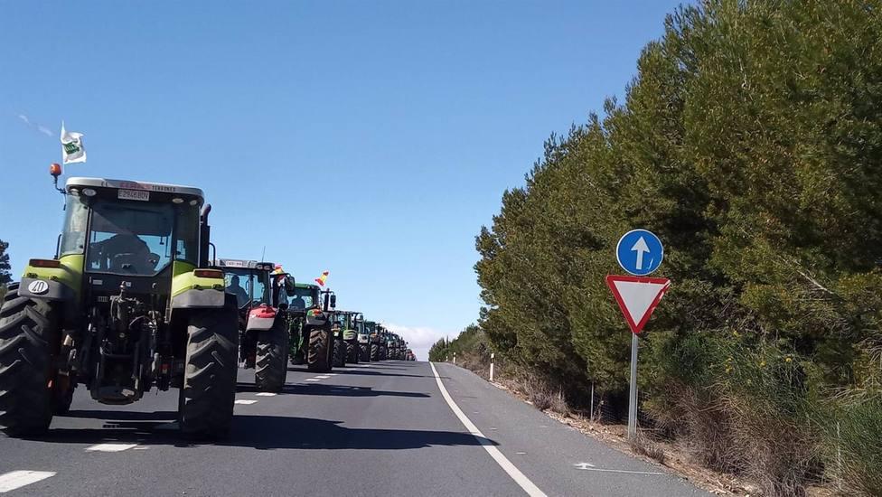 COAG, Asaja y UPA convocan una tractorada este jueves en Los Vélez para exigir una PAC más justa