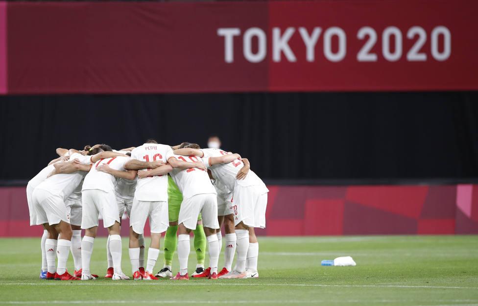 La selección española, en su debut en Tokio