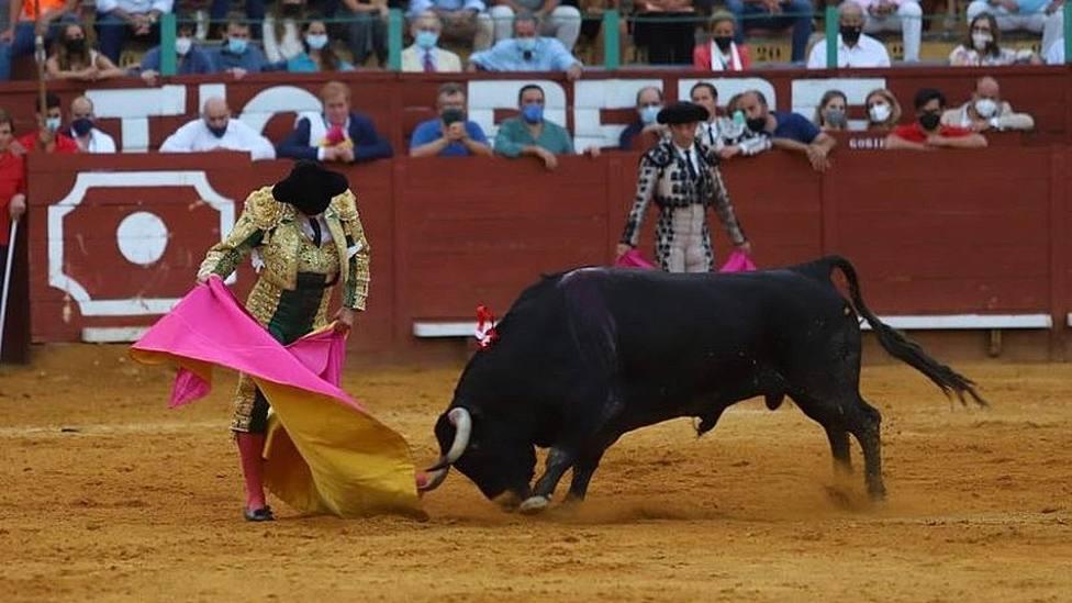 Verónica de Morante de la Puebla este sábado en Jerez al primer toro de Juan Pedro Domecq