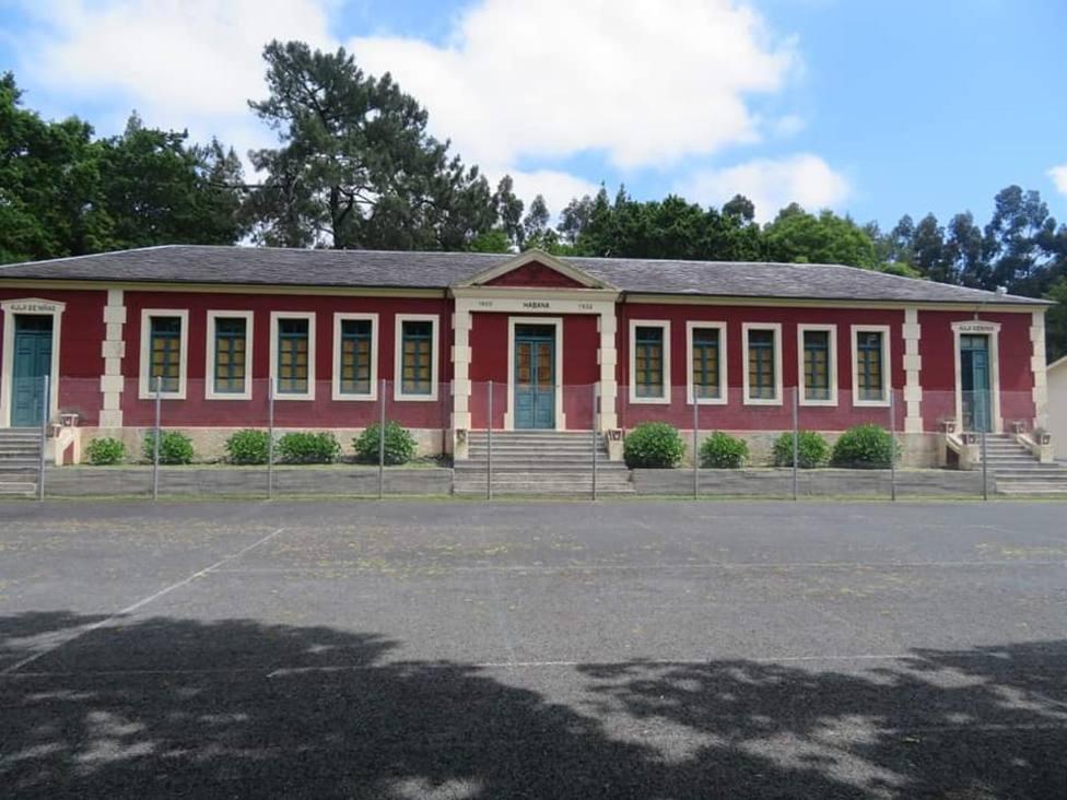 Foto de archivo de la escuela indiana de O Castro - FOTO: Plataforma Cerdido di non