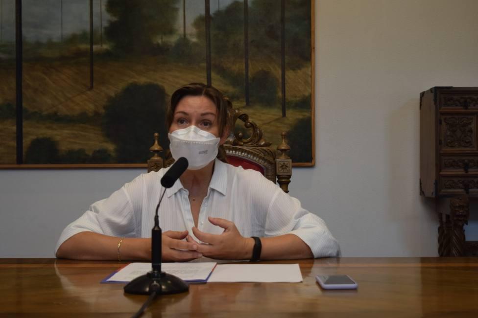 La diputada Pilar García Porto tras la reunión de la junta de gobierno