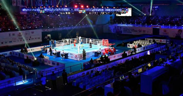 Imagen de un combate reciente de boxeo (Aiba.com)