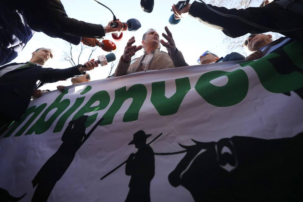 Manifestación bajo el lema Por el respeto al mundo rural y sus tradiciones