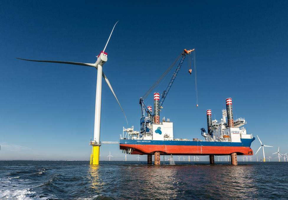 Siemens Gamesa instala 60 aerogeneradores en un parque eólico marino de Alemania