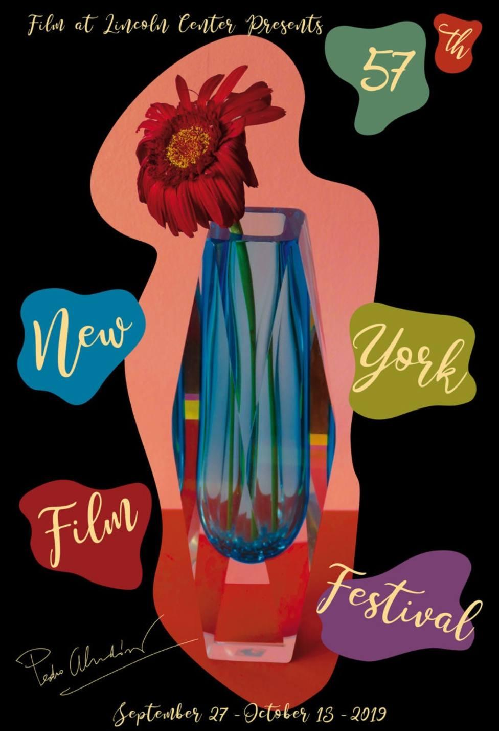 Pedro Almodóvar diseña el cartel del Festival de Cine de Nueva York y participará con Dolor y Gloria