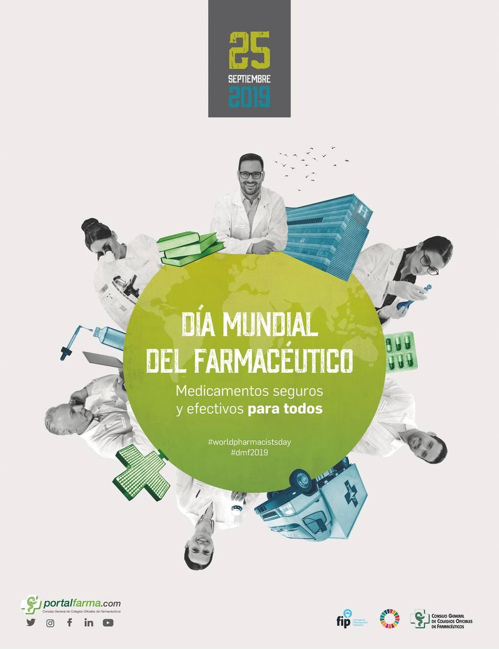 Los farmacéuticos celebran su Día Mundial el 25 de septiembre bajo el lema Medicamentos seguros y efectivos para todos