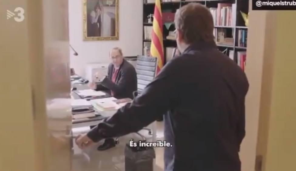 """""""Que le den el Goya"""". El vídeo de Torra sobre Pedro Sánchez que parece un sketch"""