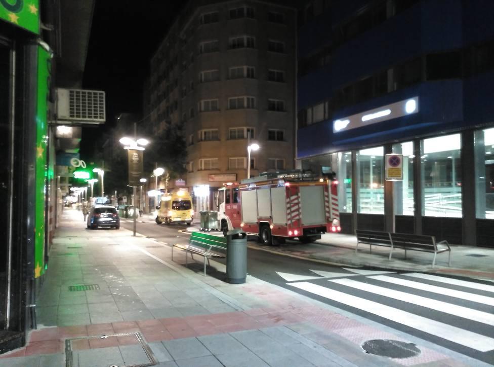 Intervención en la calle Lepanto de Pontevedra