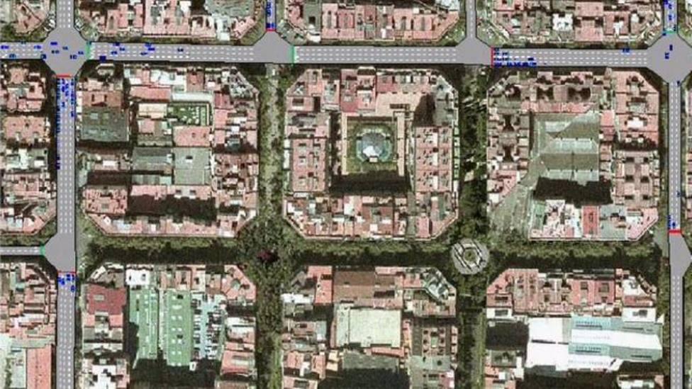 Ejemplo de supermanzana en Barcelona