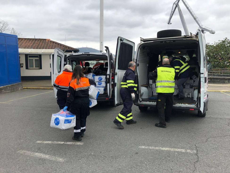 Recogida del material en las instalaciones de Navantia Ferrol - FOTO: Concello de Ferrol