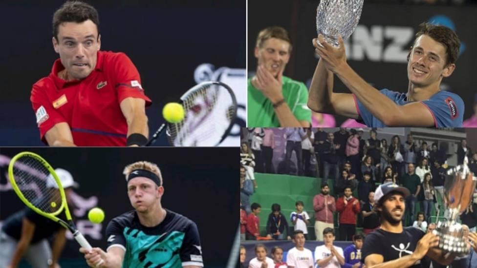 Montaje de la 95º Copa del Rey de Tenis