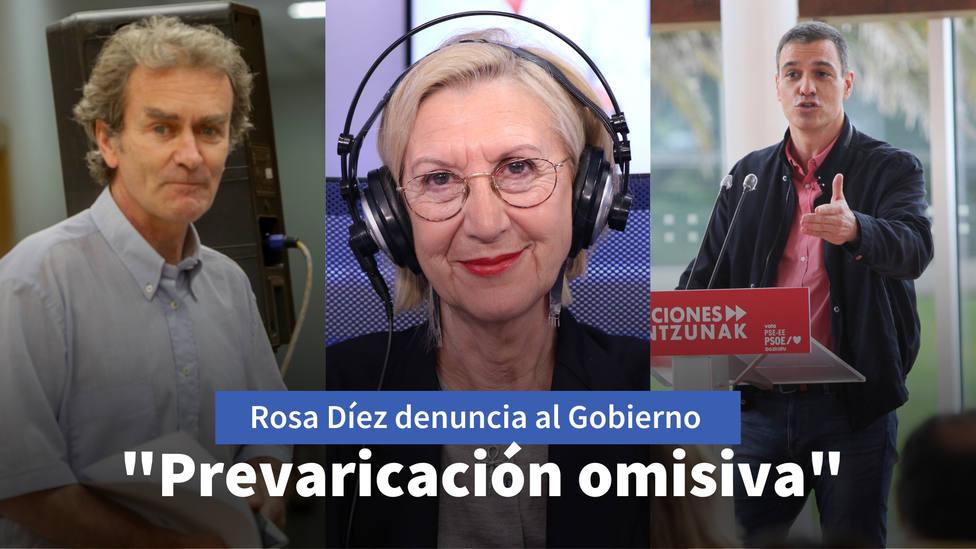 Rosa Díez denuncia a Fernando Simón y al Gobierno ante el Supremo por su actuación en el estado de alarma