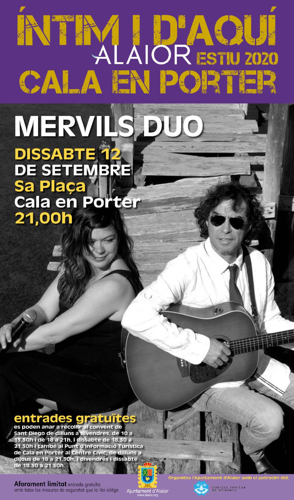 Mervil Duo actuará en Cala en Porter