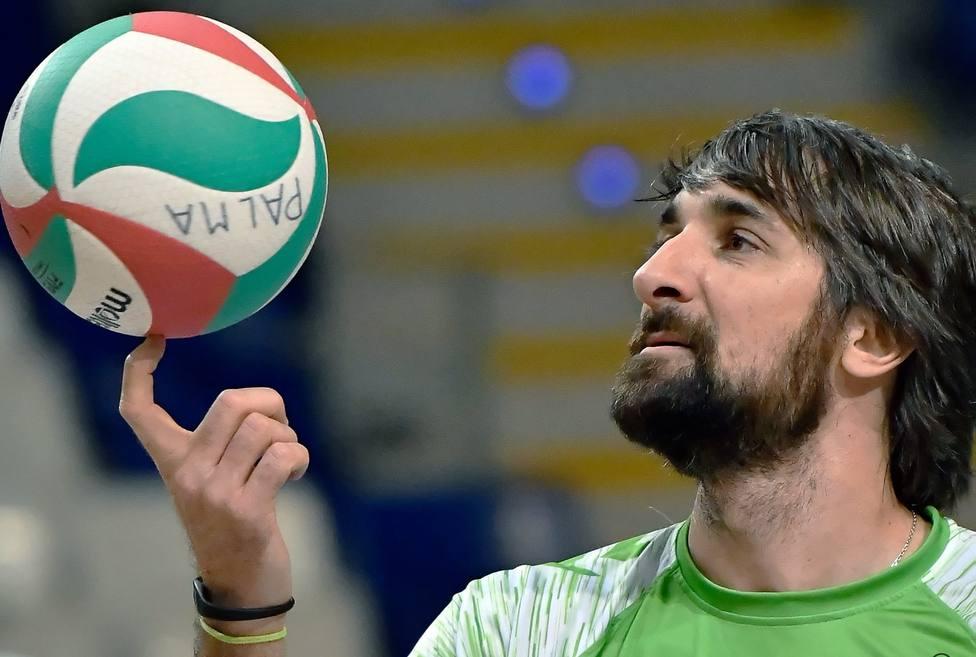 Abel Bernal, durante el partido contra el Unicaja Almeria