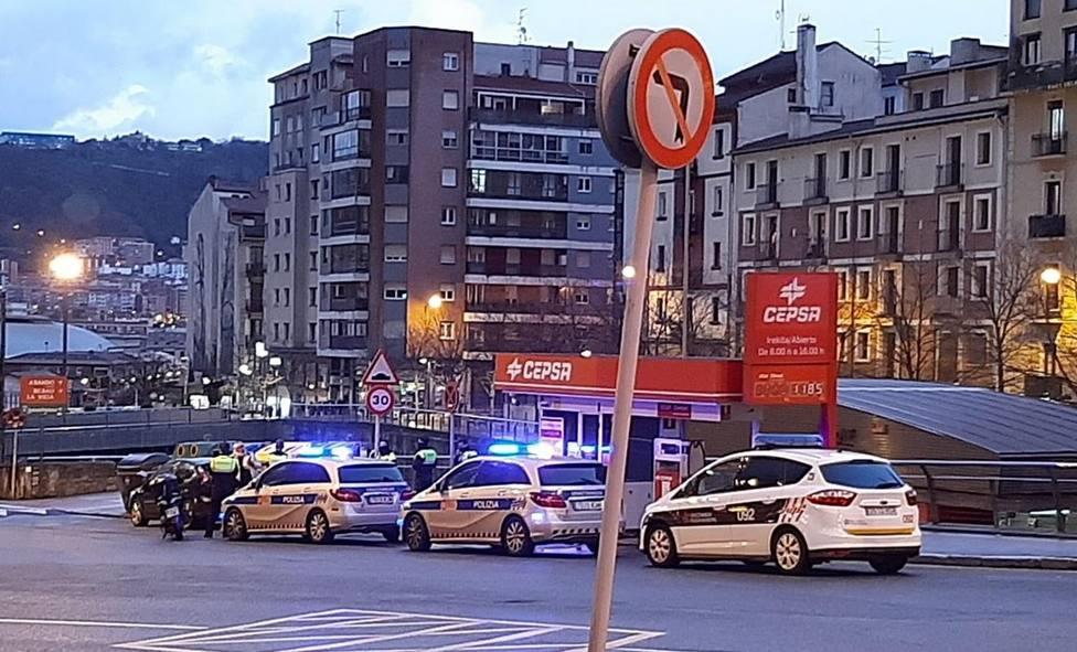 Control en la entrada a Bilbao