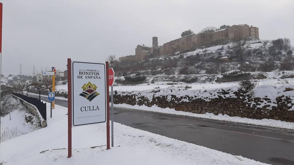Los espesores de nieve acumulada han alcanzado los 60 centímetros en el interior de Castellón