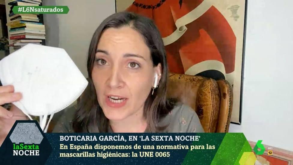 """Boticaria García desvela el error que cometemos al ponernos las mascarillas FFP2: """"Ojo con esto"""""""