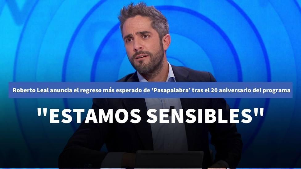 Roberto Leal anuncia el regreso más esperado de 'Pasapalabra' tras el 20 aniversario del programa