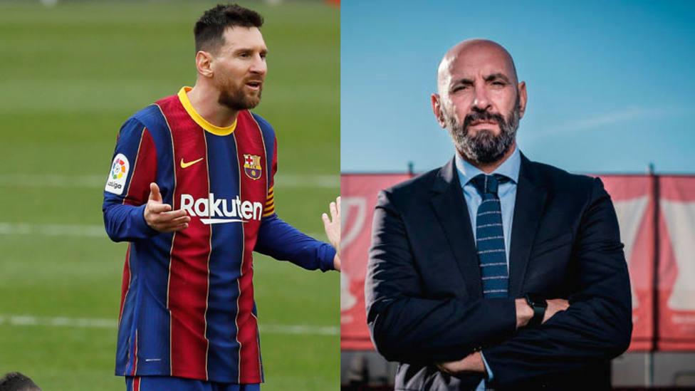 Leo Messi y Monchi, protagonistas tras el Barcelona - Sevilla de Copa del Rey