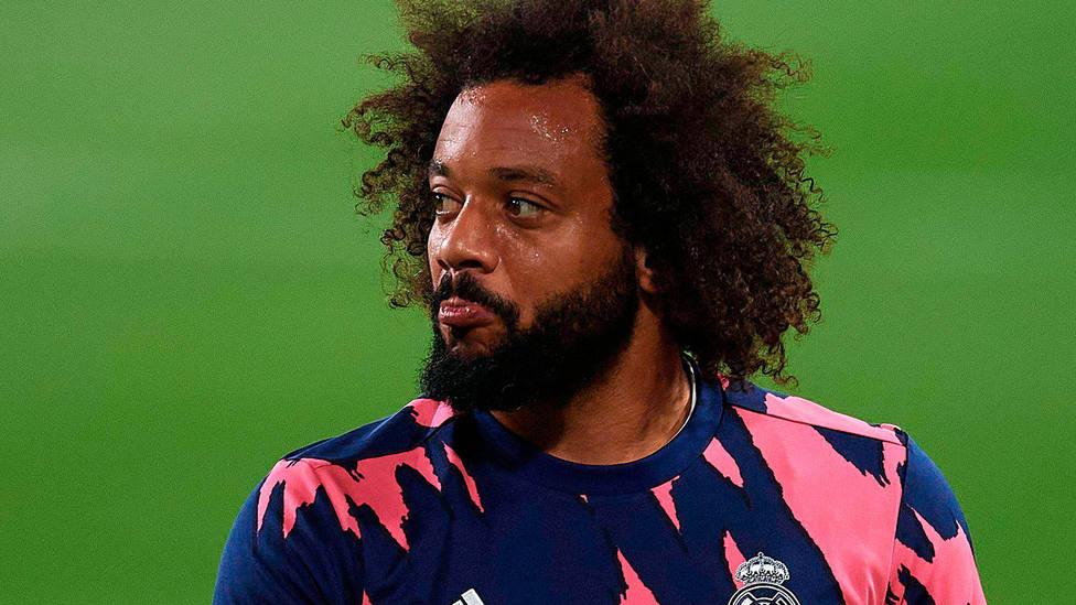 Marcelo Vieira, lateral brasileño del Real Madrid, en la previa del Real Madrid - Chelsea de Champions